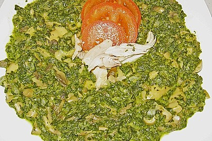 Champignon - Spinat - Pfanne 24