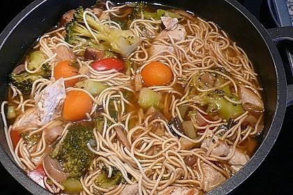Asiatische Suppe mit Mie Nudeln 8