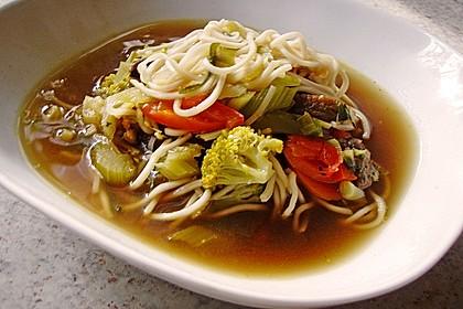 Asiatische Suppe mit Mie Nudeln 2