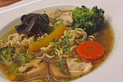 Asiatische Suppe mit Mie Nudeln 0