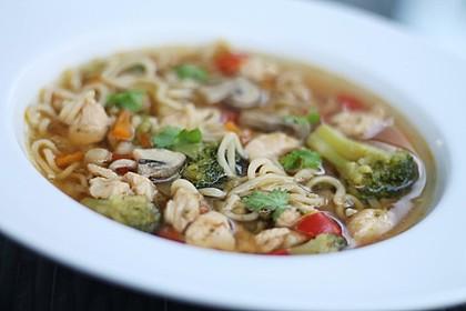 Asiatische Suppe mit Mie Nudeln 5