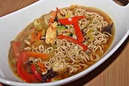 Asiatische Suppe mit Mie Nudeln 3