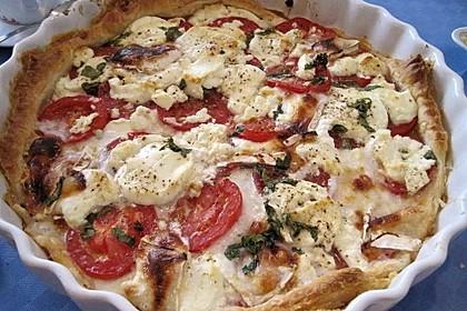 Tomaten - Ziegenkäse - Quiche 2