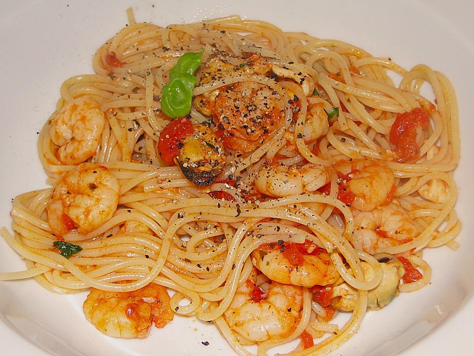 Spaghetti Frutti di Mare (Rezept mit Bild) von zwergenmuomi | Chefkoch ...