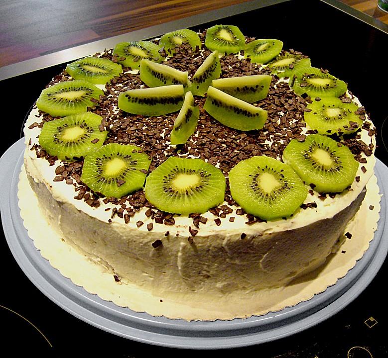 kiwi bananen torte mit buttermilchcreme von wuschel27. Black Bedroom Furniture Sets. Home Design Ideas
