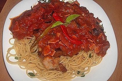 Pizza - Schnitzel auf Spaghetti