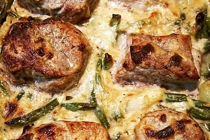 Filet - Pfännchen mit Speckbohnen 1