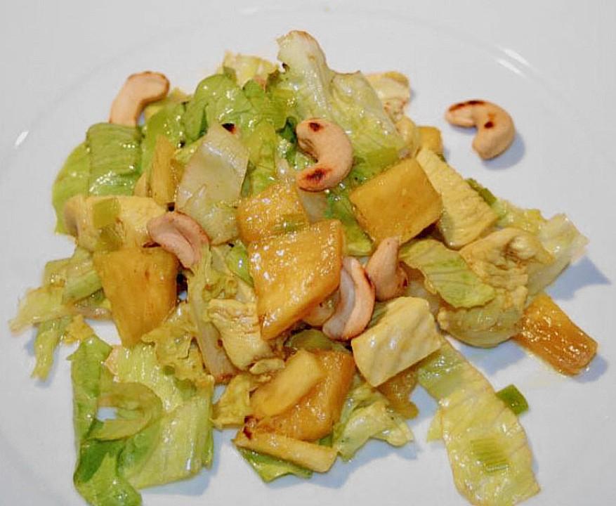 Pikanter ananas salat