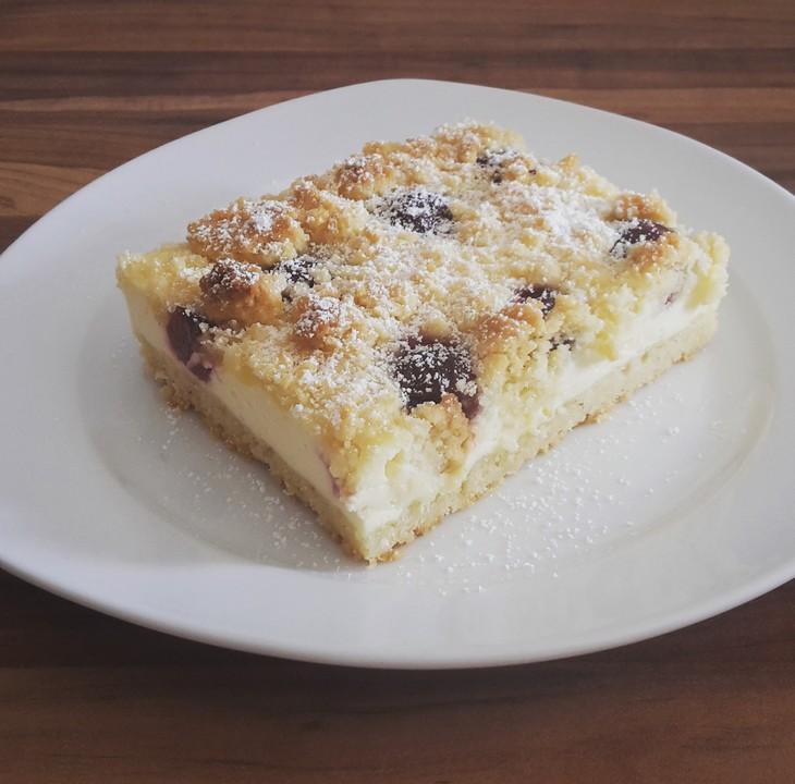 Schnelle Blechkuchen Rezepte Mit Bild: Schneller Quark-Streuselkuchen Mit Obst Von Lametti