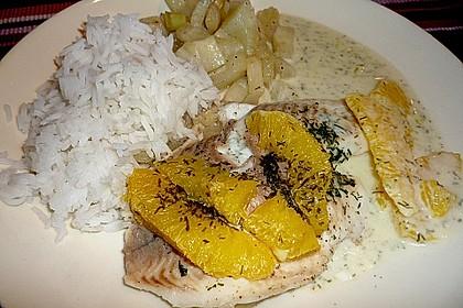 Fischfilet mit Fenchel und Orange 5