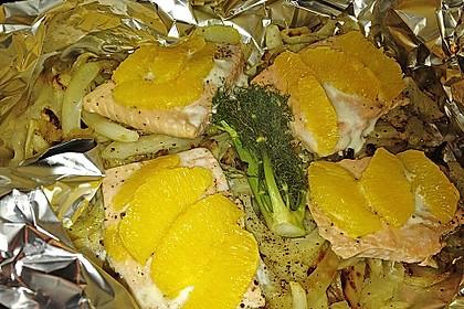 Fischfilet mit Fenchel und Orange 8