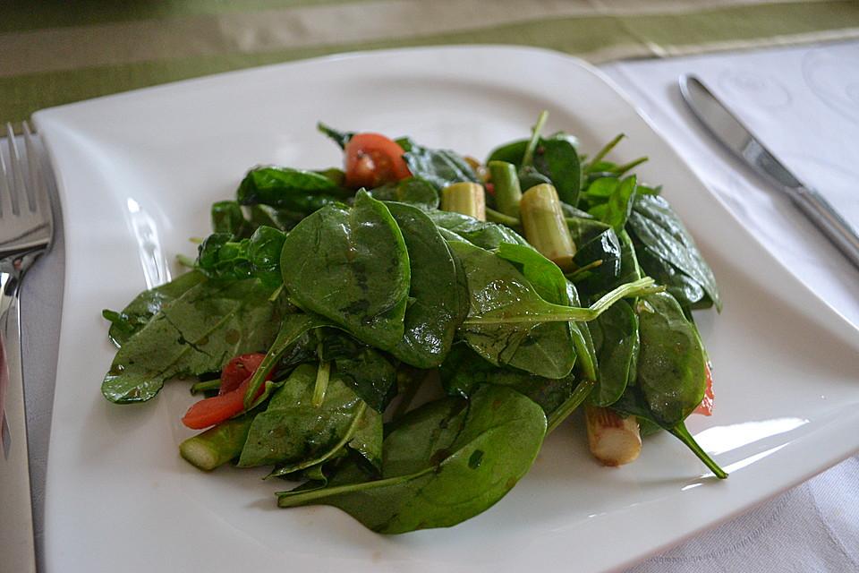 spargel spinat salat rezept mit bild von tini1707. Black Bedroom Furniture Sets. Home Design Ideas