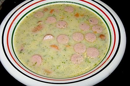 Cremige, aber diättaugliche Kartoffelsuppe mit Thymian und Käse 28