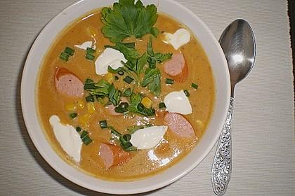 Cremige, aber diättaugliche Kartoffelsuppe mit Thymian und Käse