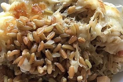 Grünkern - Sauerkraut - Auflauf 4