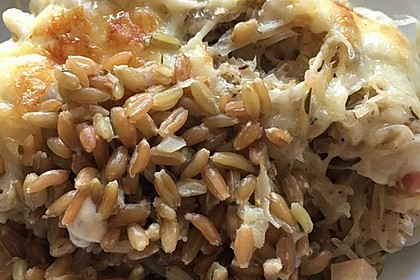 Grünkern-Sauerkraut-Auflauf 5