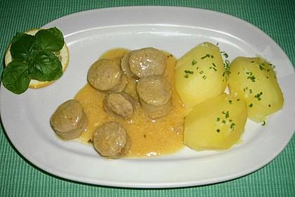 Grobe Bratwurst in Senf - Sahne - Sauce 14