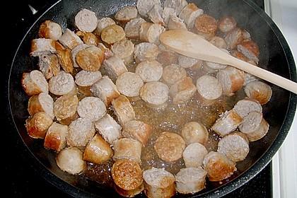 Grobe Bratwurst in Senf - Sahne - Sauce 22