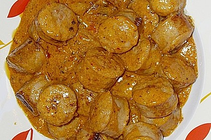 Grobe Bratwurst in Senf - Sahne - Sauce 10
