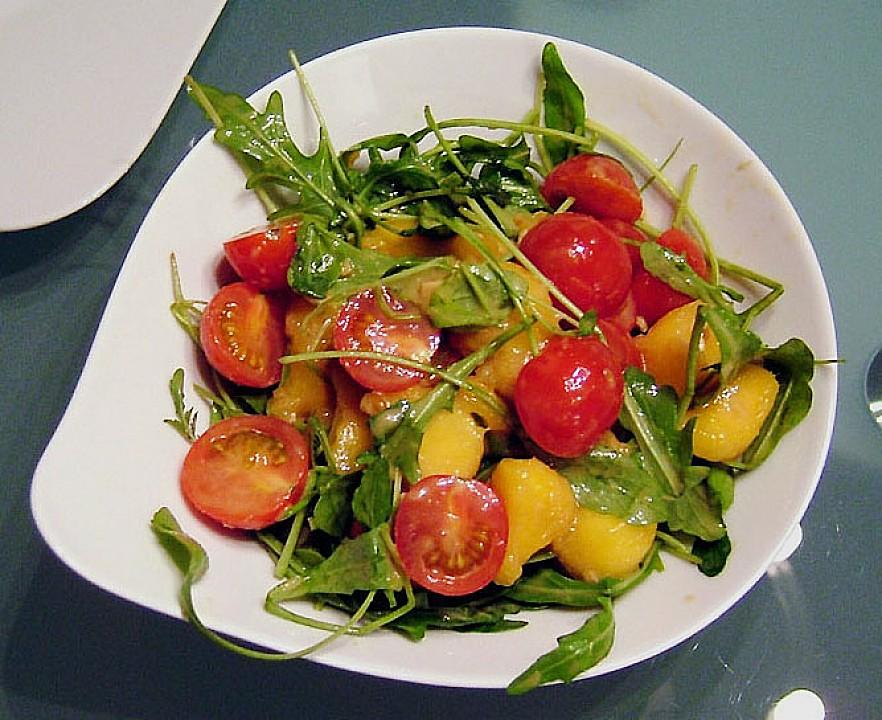 mango rucola salat mit ingwerdressing rezept mit bild. Black Bedroom Furniture Sets. Home Design Ideas
