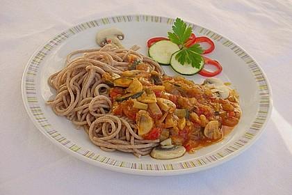 Spaghetti mit Zucchini und Pilzen 1