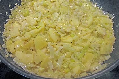 Hähnchenbrustfilet asiatisch mariniert auf Apfel - Porreegemüse 8