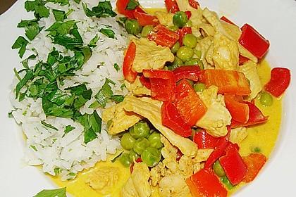 Putengeschnetzeltes mit Curry 0