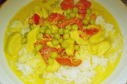 Putengeschnetzeltes mit Curry 1