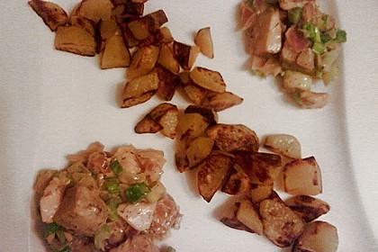 Bratkartoffeln mit Fisch in Senfsauce 5