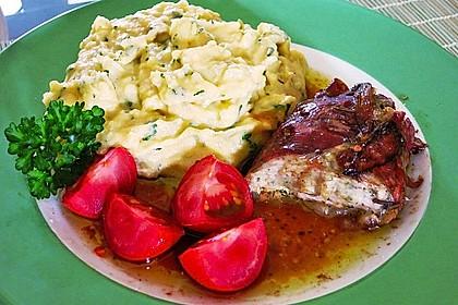 Koelkasts Putensteaks im Kräuter - Schafskäse  - Mantel 3
