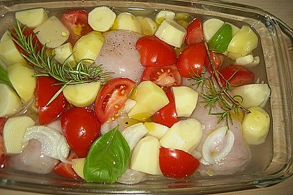 Hähnchen in Barbecuemarinade mit Kartoffeln 16