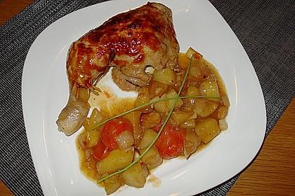 Hähnchen in Barbecuemarinade mit Kartoffeln 5