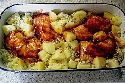 Hähnchen in Barbecuemarinade mit Kartoffeln 28
