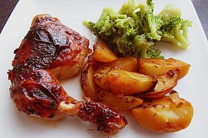 Hähnchen in Barbecuemarinade mit Kartoffeln 2