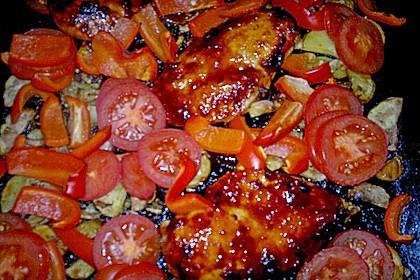 Hähnchen in Barbecuemarinade mit Kartoffeln 29