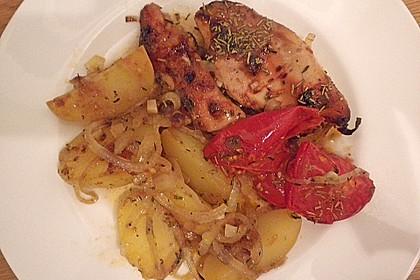 Hähnchen in Barbecuemarinade mit Kartoffeln 9