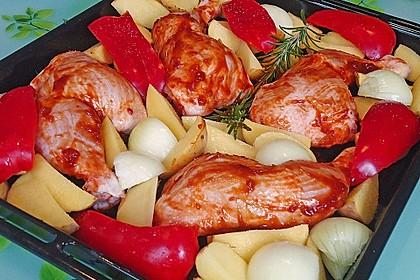 Hähnchen in Barbecuemarinade mit Kartoffeln 18