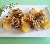 Mini - Frikadellen mit Kartoffeln saftig überbacken (Bild)