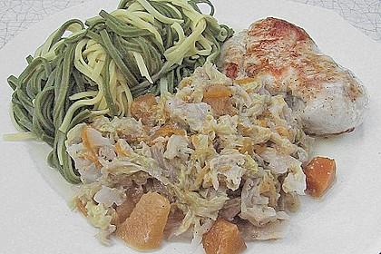 Wirsing - Gemüse mit Kürbis
