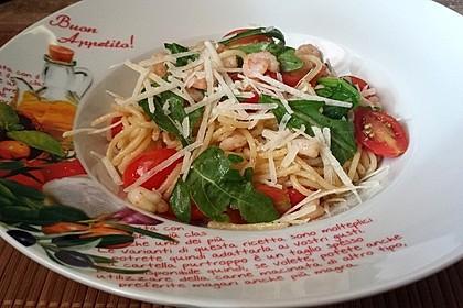 Spaghettini mit Garnelen und Rucola 1