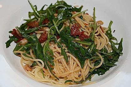 Spaghettini mit Garnelen und Rucola 2