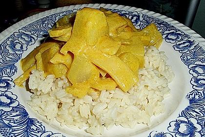 Hähnchen - Ananas - Curry mit Reis 2