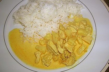 Hähnchen - Ananas - Curry mit Reis 0