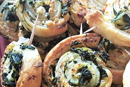 Blätterteig-Spinat-Schnecken 10