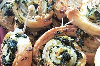 Blätterteig-Spinat-Schnecken 11