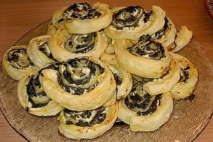 Blätterteig - Spinat - Schnecken 12