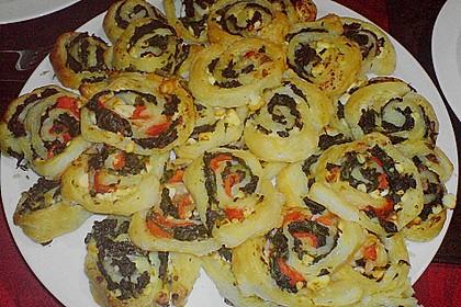Blätterteig - Spinat - Schnecken 35