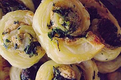 Blätterteig-Spinat-Schnecken 51