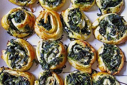 Blätterteig - Spinat - Schnecken 20
