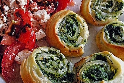 Blätterteig - Spinat - Schnecken 17